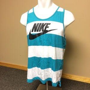 Nike Teal White Tank Top Summer Men's Size Large